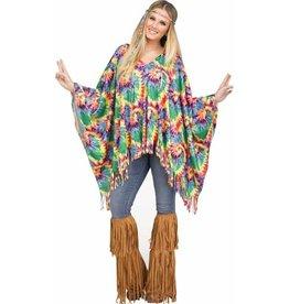 Fun World Tie-Dye Hippie Poncho
