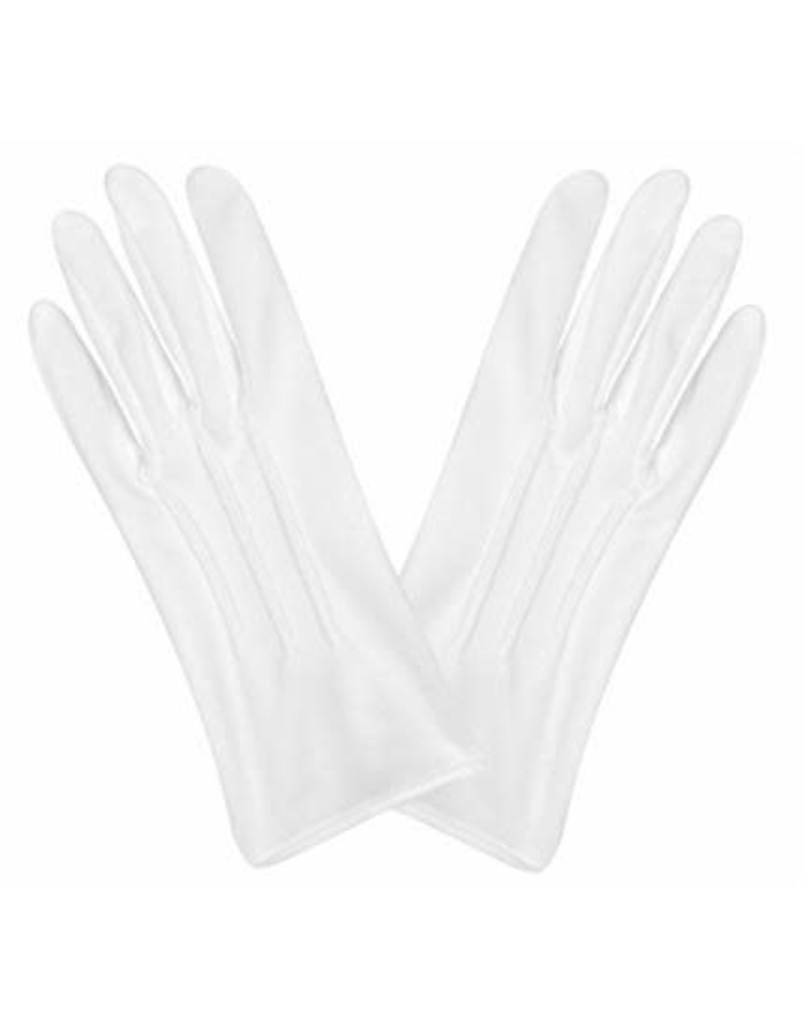 Beistle White Theatrical Gloves with Snap