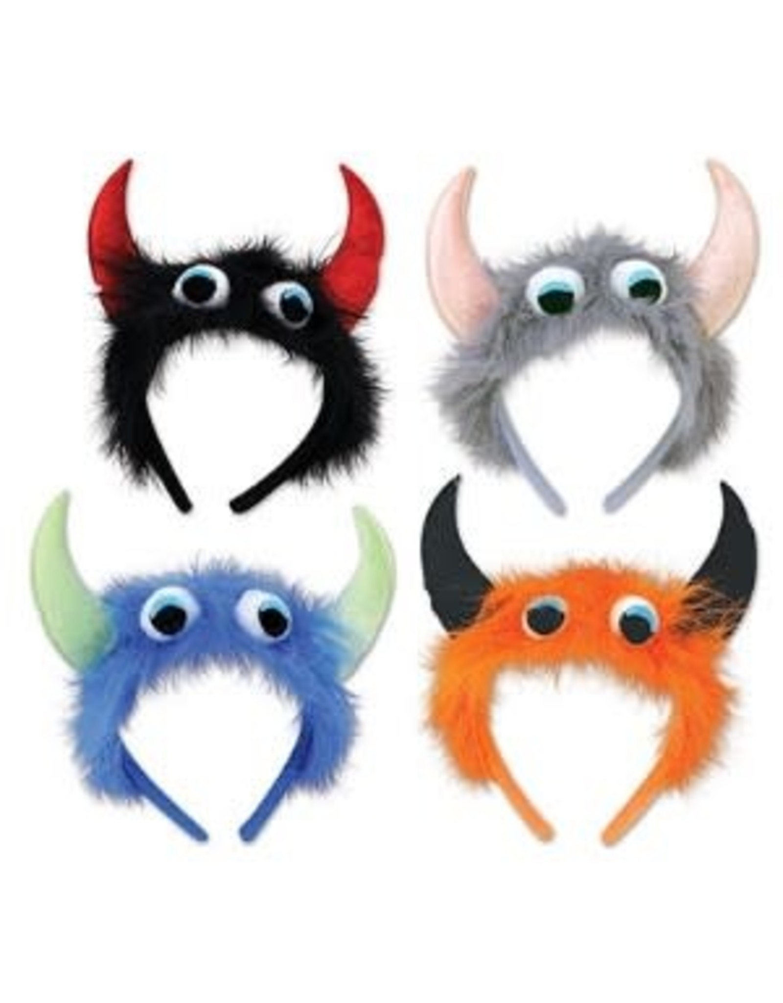 Beistle Black and Red Monster Headband