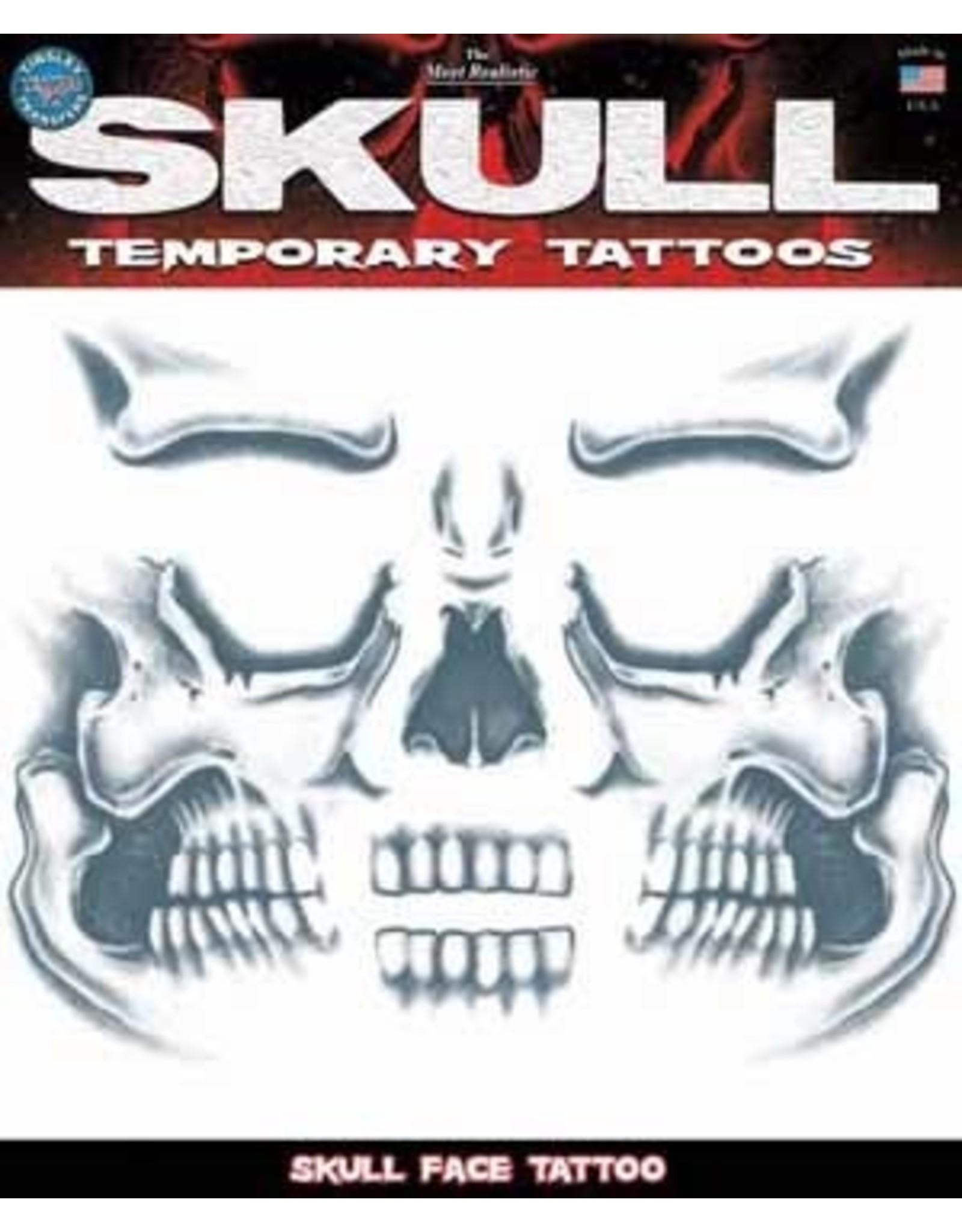 Tinsley Transfers Skull Face Temporary Tattoo