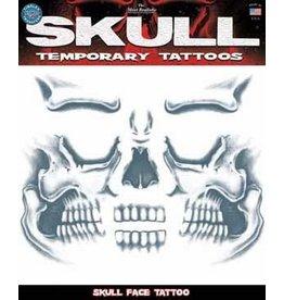 Tinsley Transfers Skull Face Temporary Tatto