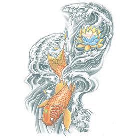 Tinsley Transfers Extra Large Koi Temporary Tattoo