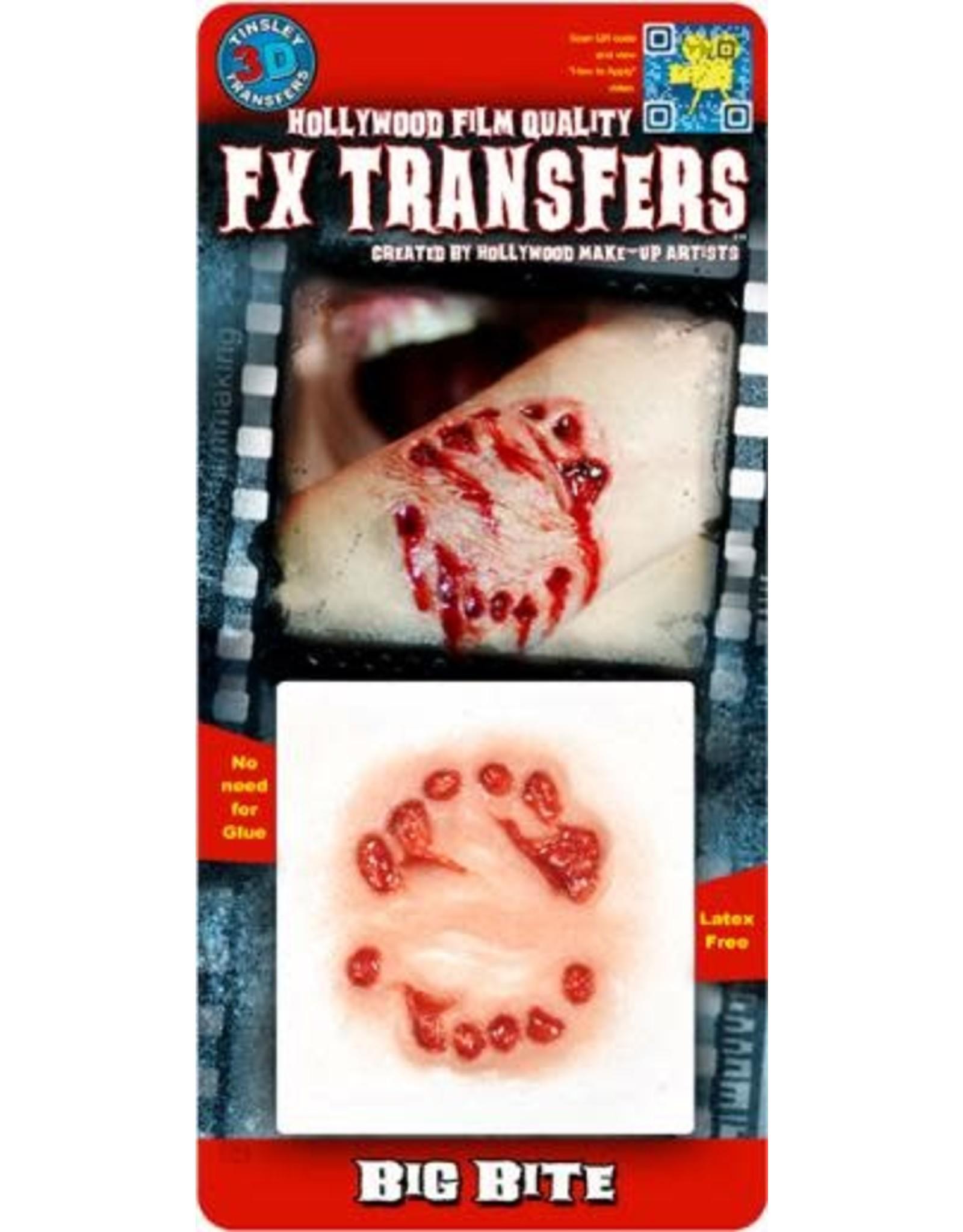 Tinsley Transfers Big Bite 3D Temporary Tattoo