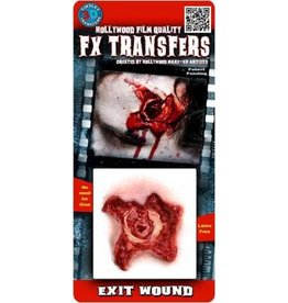 Tinsley Transfers Exit Wound 3D Temporary Tattoo