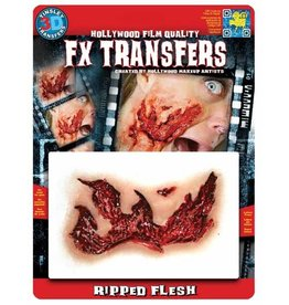 Tinsley Transfers Ripped Flesh 3D Temporary Tattoo