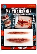 Tinsley Transfers Cut Throat 3D Temporary Tattoo