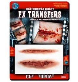 Tinsley Transfers Cut Throat 3D Tattoo