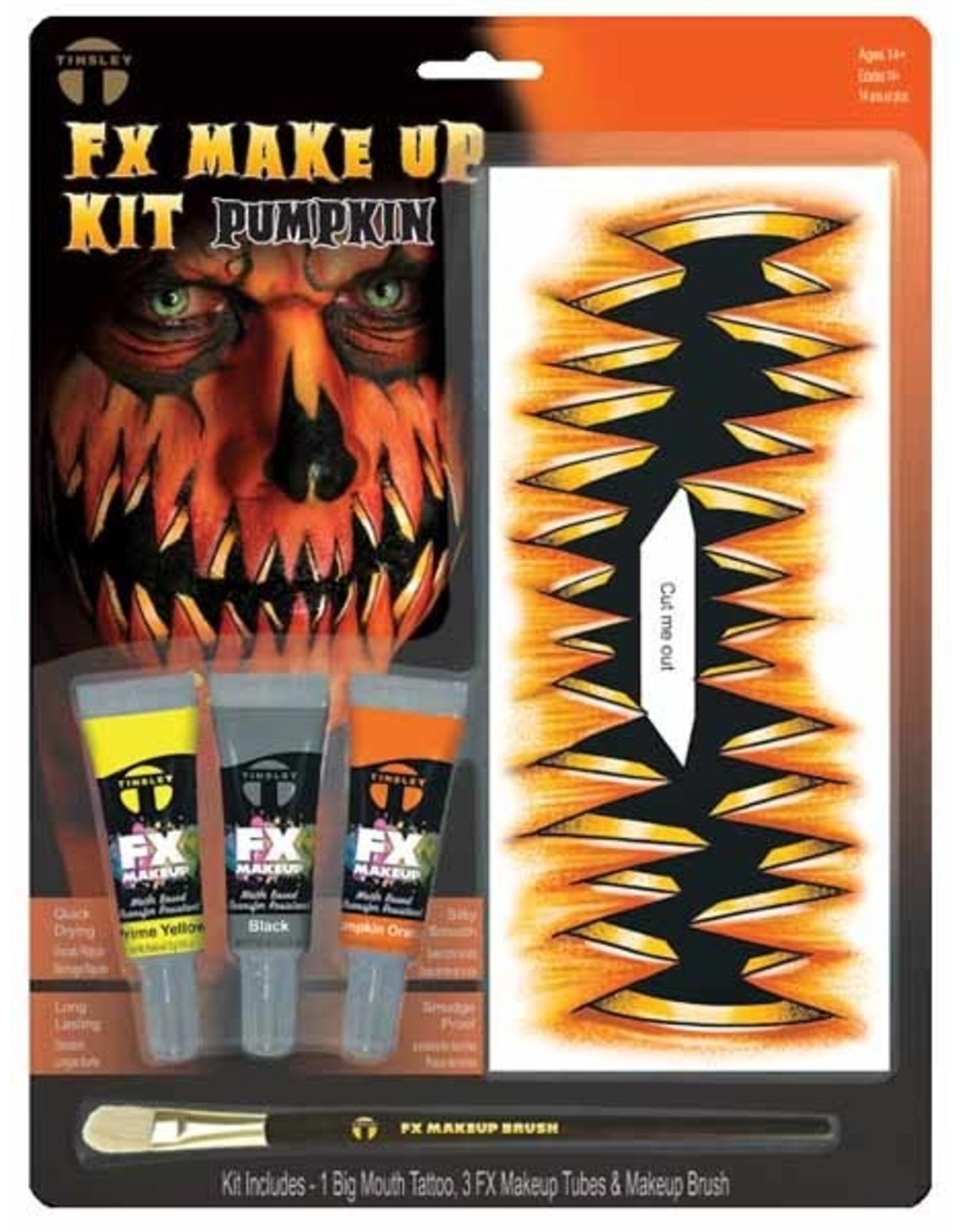 Tinsley Transfers Pumpkin Makeup & Tattoo Kit