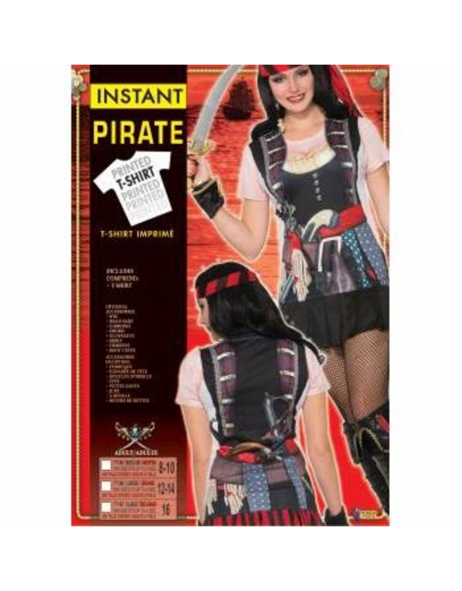 Forum Novelties Inc. Instant Pirate Lady Shirt