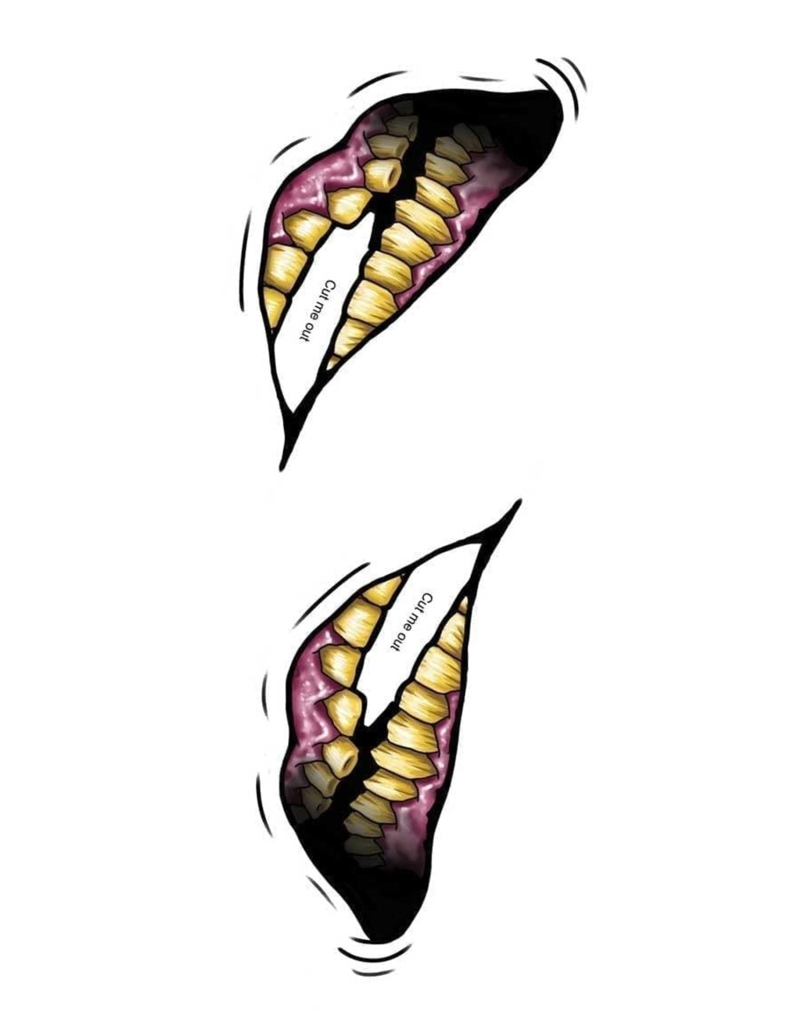 Tinsley Transfers Big Mouth Temporary Tattoos