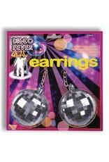 Forum Novelties Inc. Jumbo Disco Ball Earrings