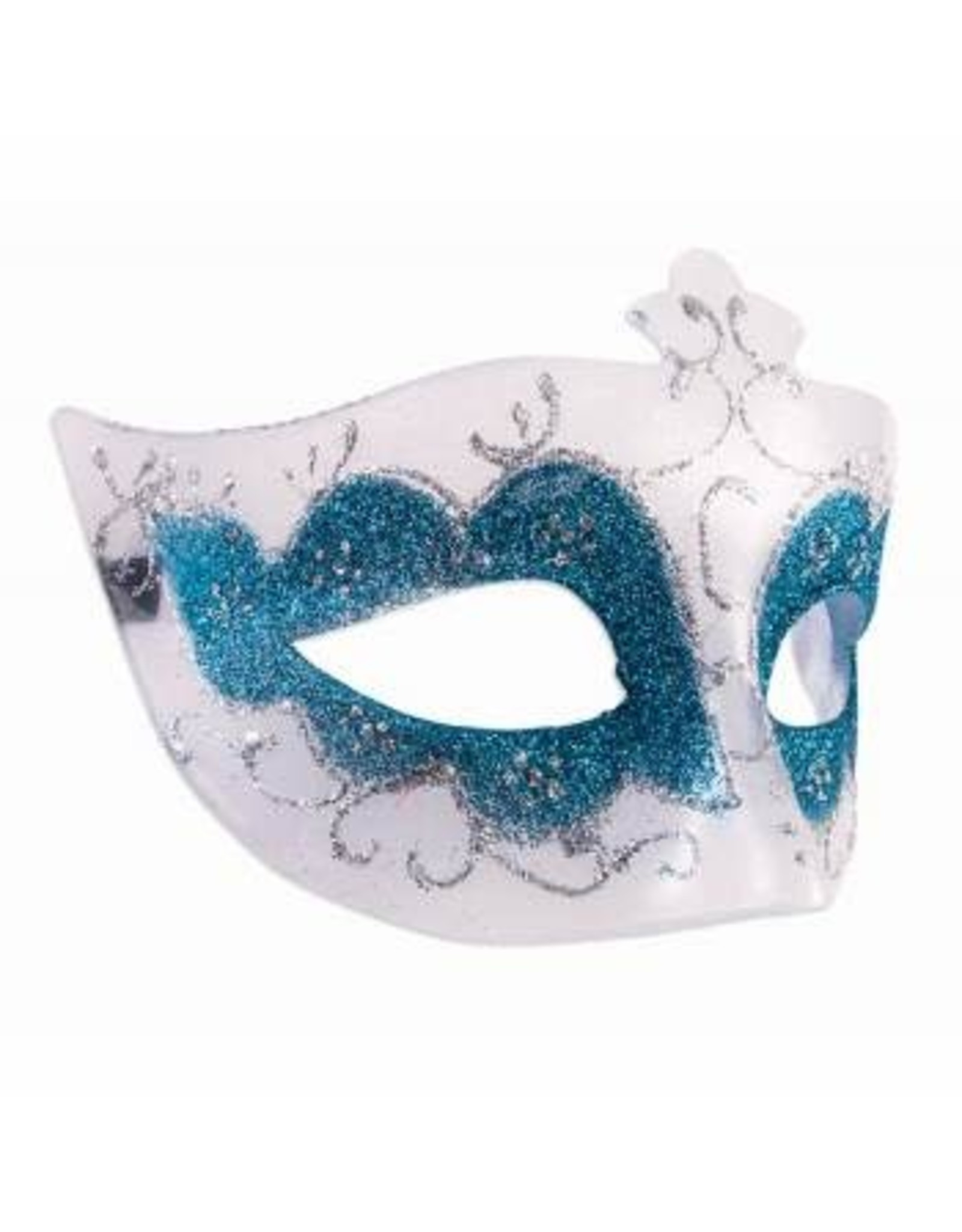 Forum Novelties Inc. Clear Eye Mask with Blue Glitter