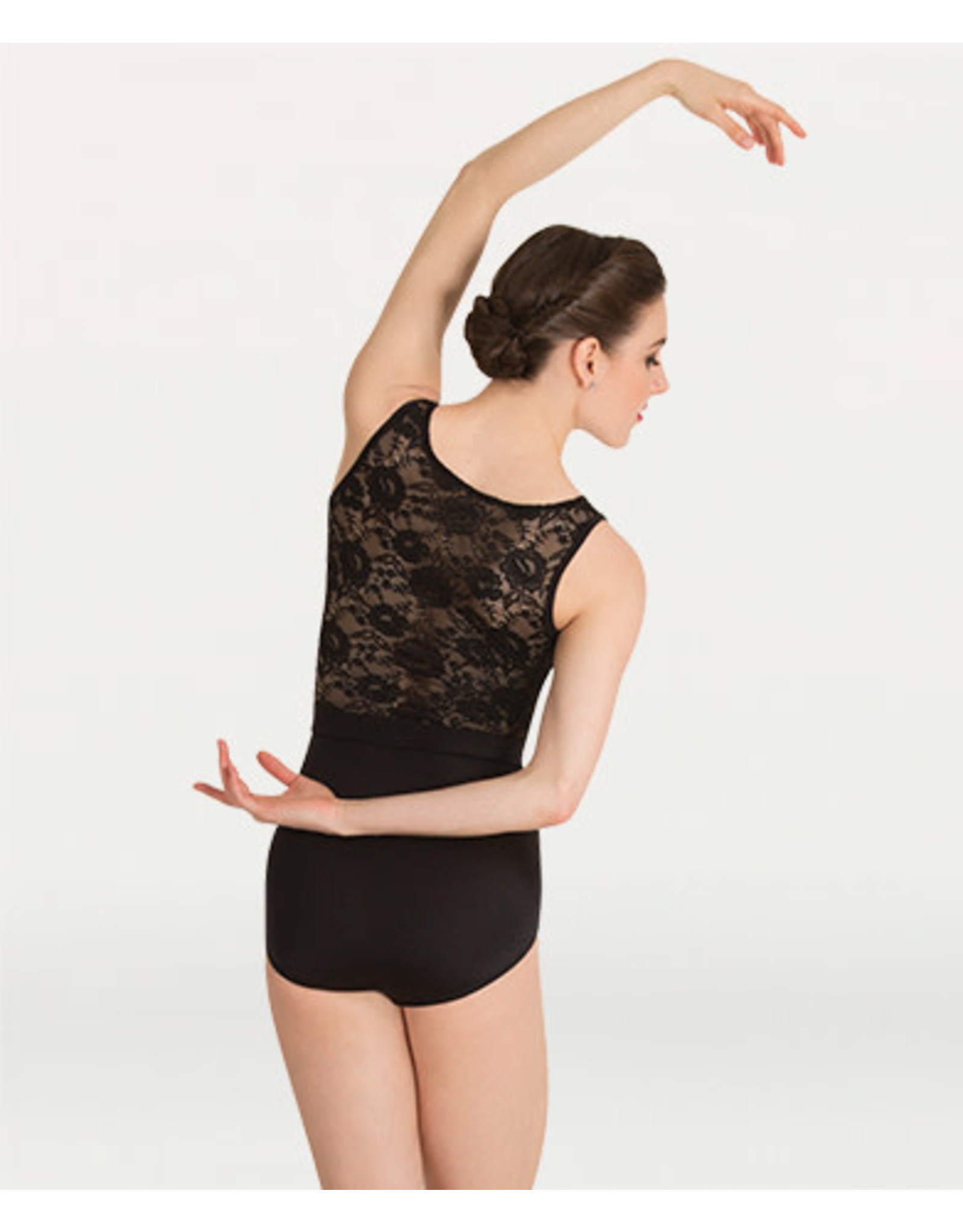 Body Wrappers Tank Lace Back Leotard