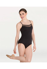 Body Wrappers Mesh Insert Camisole Leotard