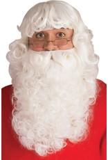 Rubies Costume Santa Deluxe Wig and Beard Set