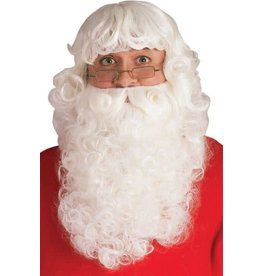 Rubies Costume Santa Deluxe Wig and Beard Set