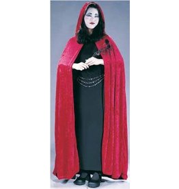 "Fun World 68"" Velvet Hooded Cape"
