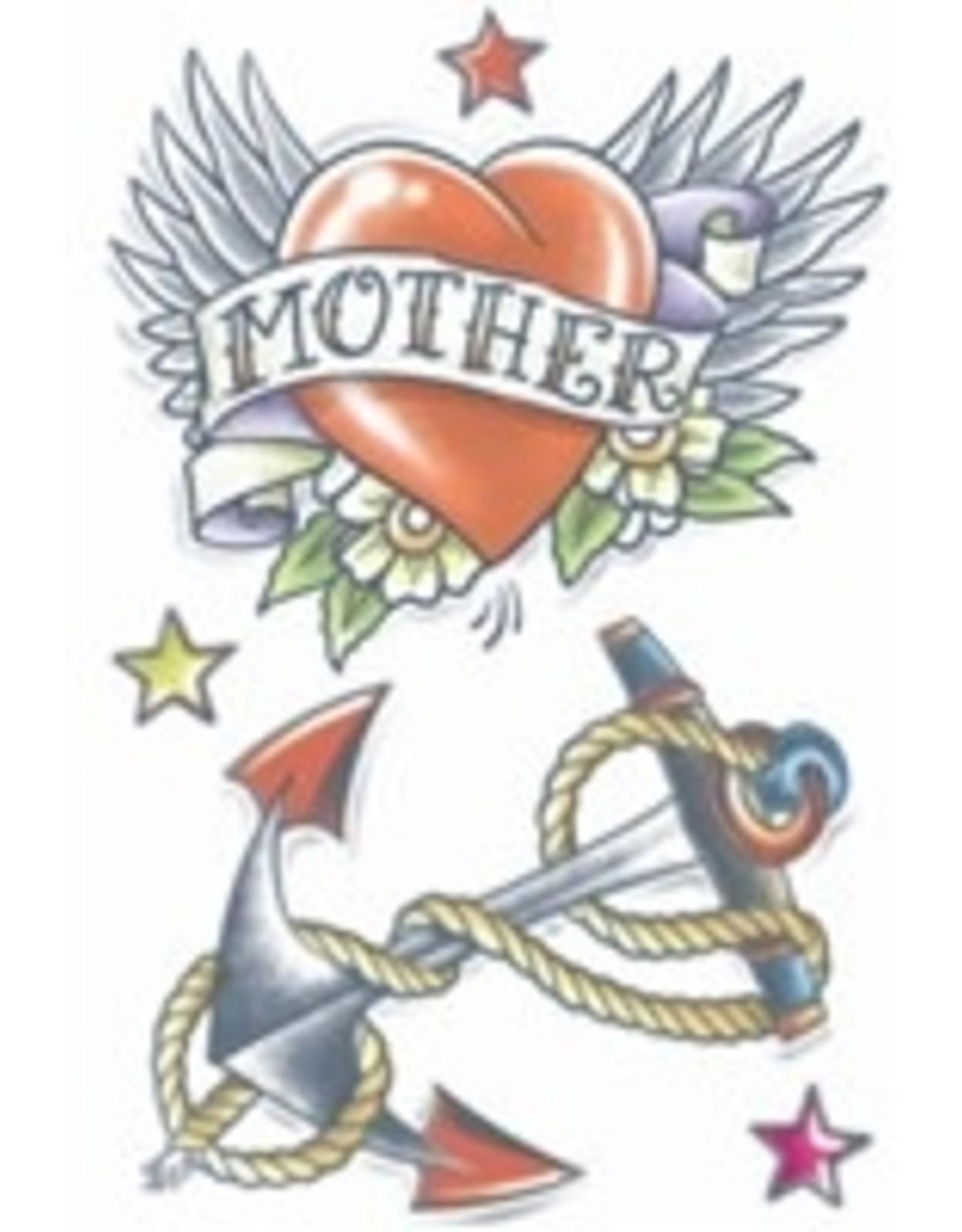 Tinsley Transfers Temporary Tattoos - Heart and Anchor Tattoo