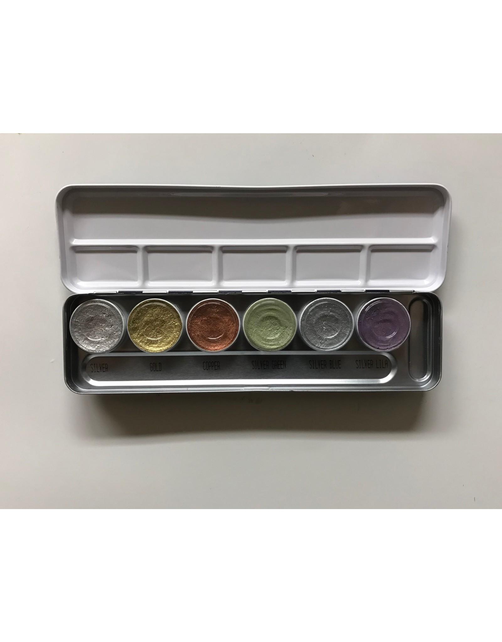 Kryolan Kryolan Aquacolor Palette - 6 Color Metallic