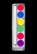 Kryolan Kryolan Aquacolor Palette - 6 Color UV