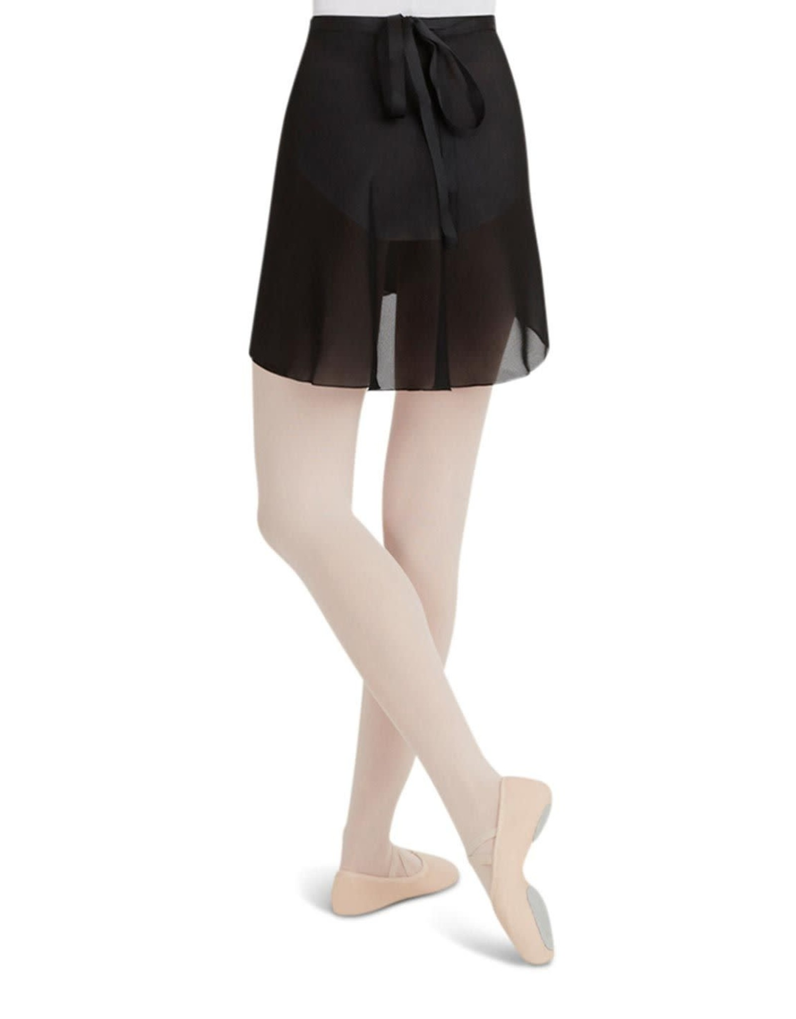 Capezio Elegant Black Georgette Wrap Skirt