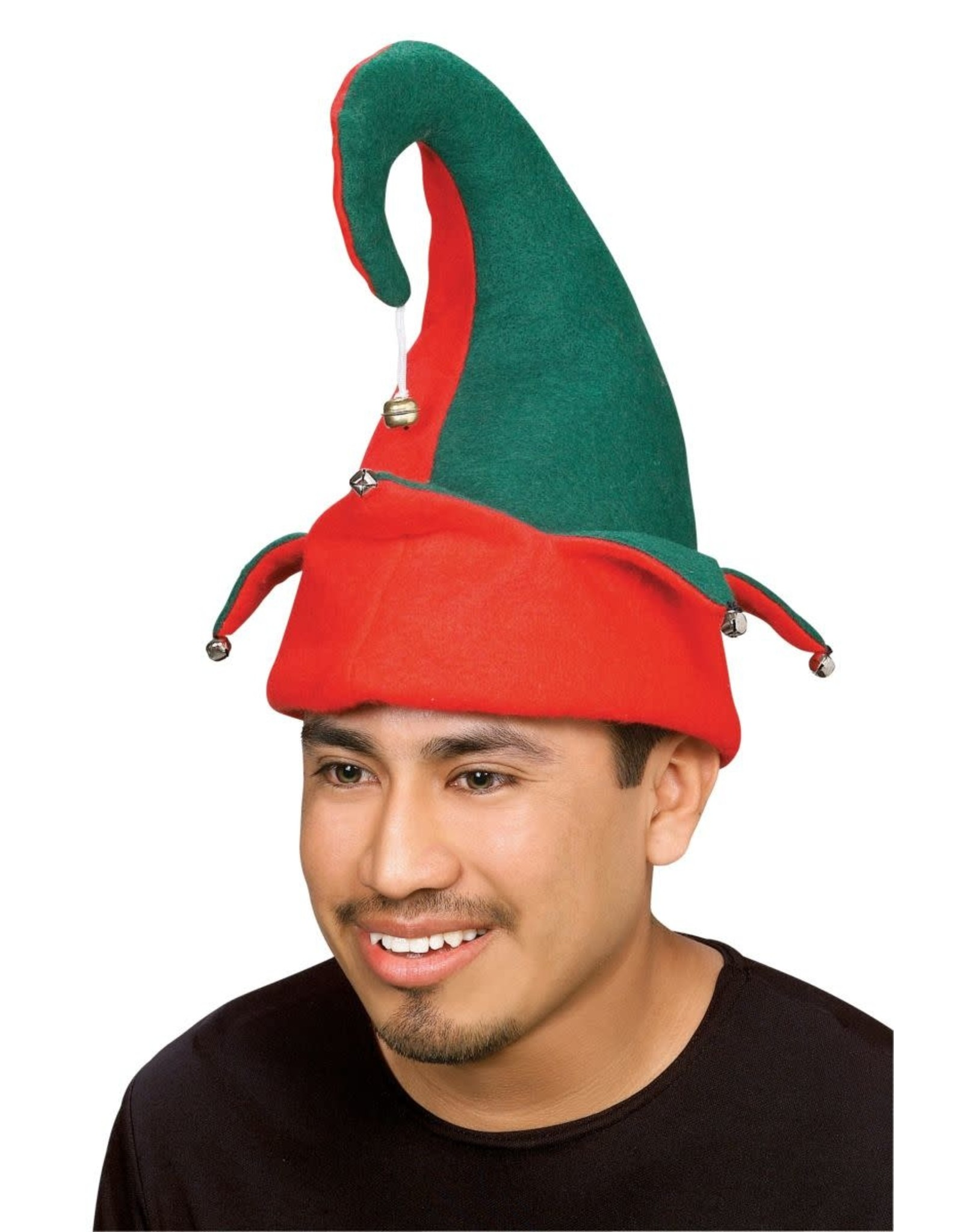 Rubies Costume Red and Green Elf Hat with Bells