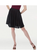 Body Wrappers Matte Finish Above-The-Knee Circle Skirt