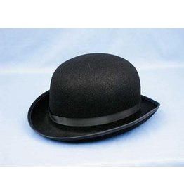 HM Smallwares Black Felt Derby Hat