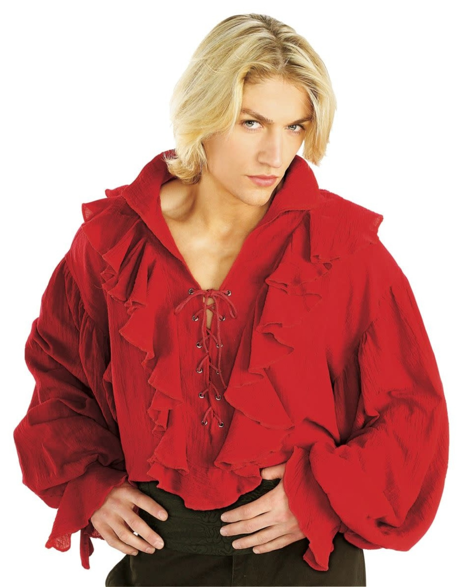Rubies Costume Red Gauze Pirate Shirt