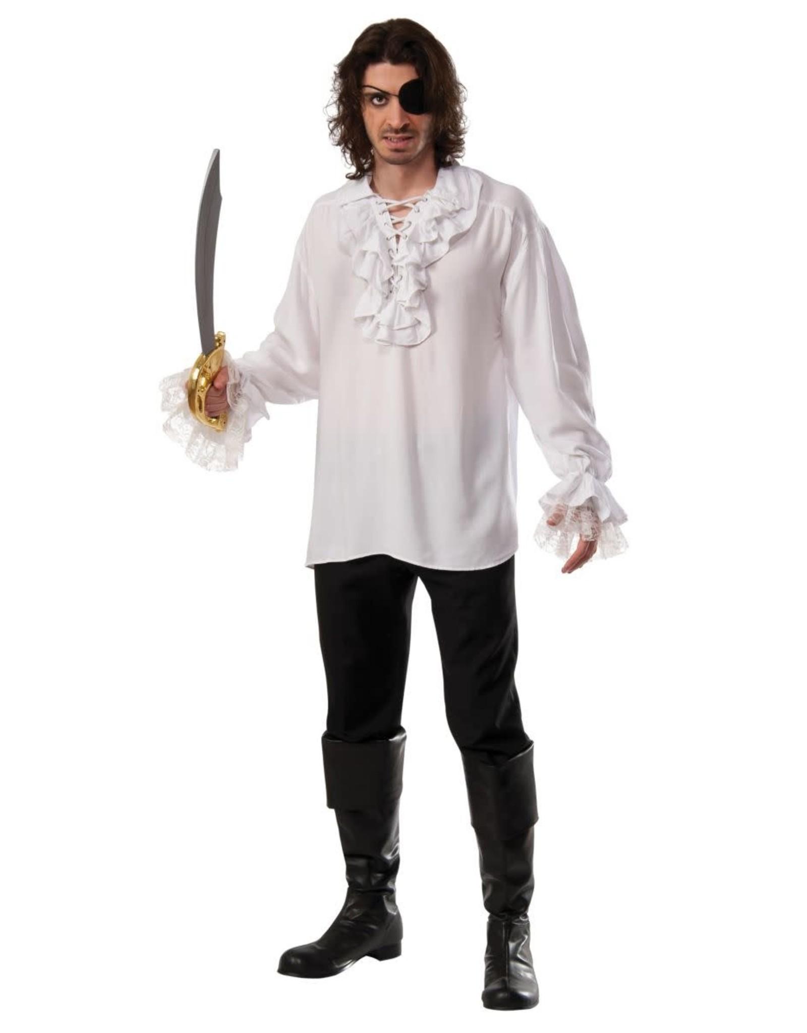 Rubies Costume Ruffled White Pirate Shirt