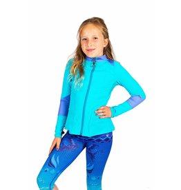 Limeapple Girl's 10/12 Turquoise Ruffle Jacket