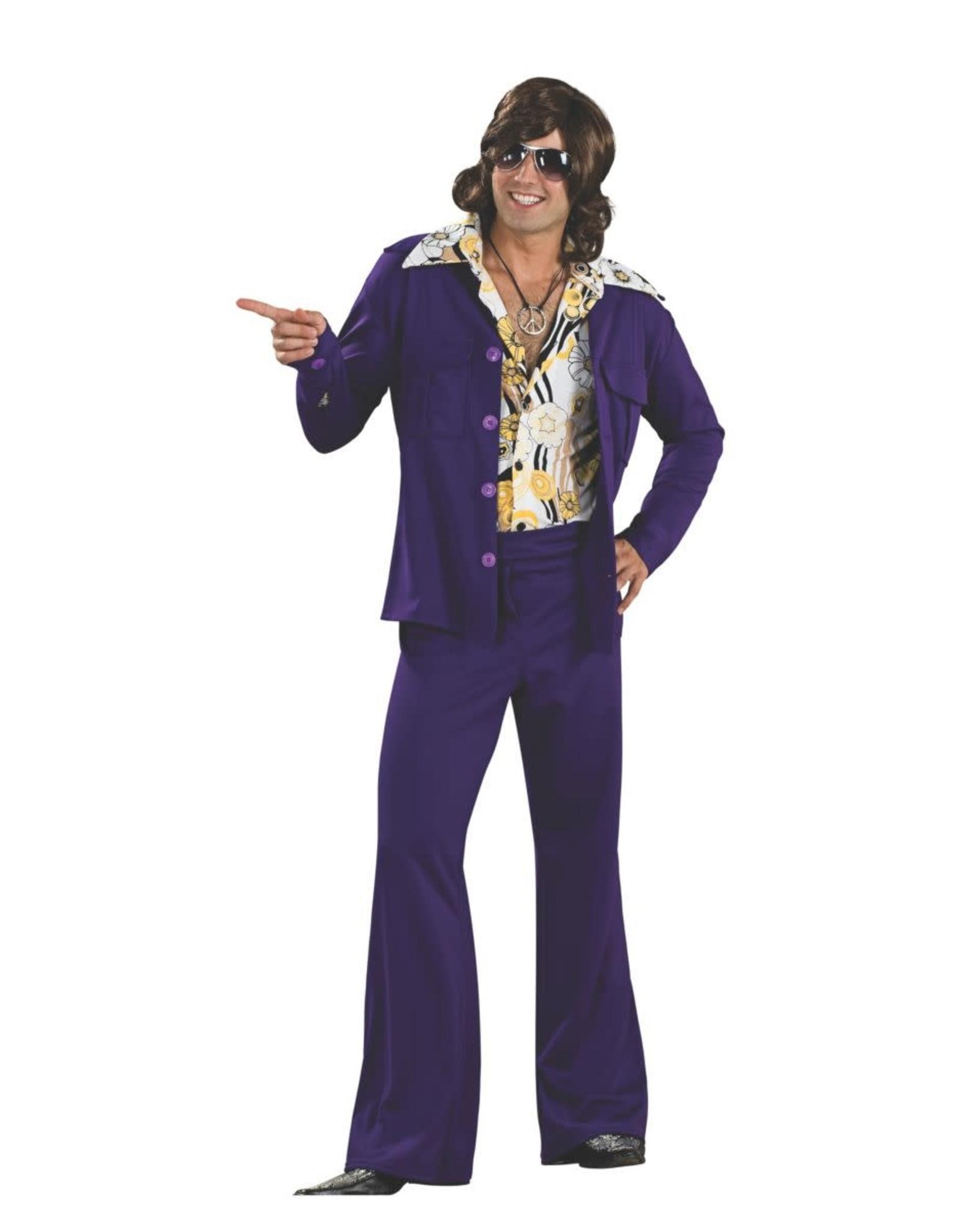 Rubies Costume Purple Leisure Suit