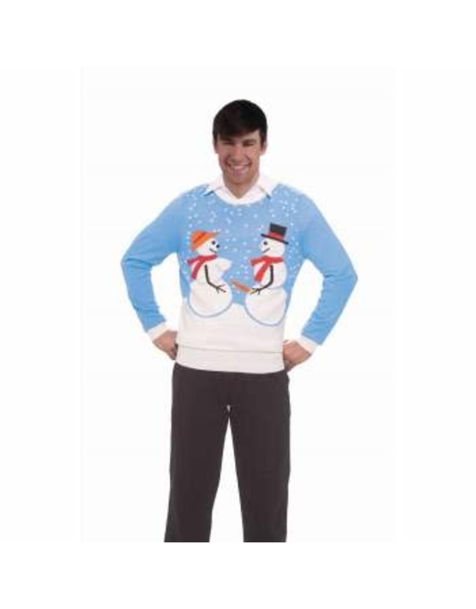 Forum Novelties Inc. Snow Couple Ugly Christmas Sweater