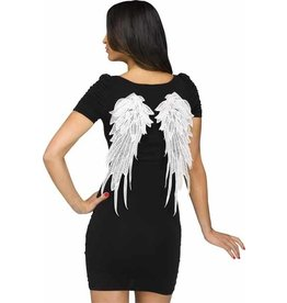 Fun World White Applique Wings