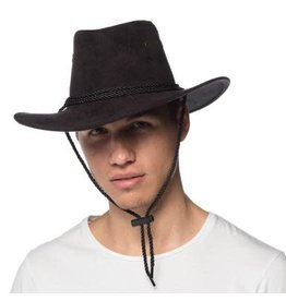 HM Smallwares Black Suede Cowboy Hat