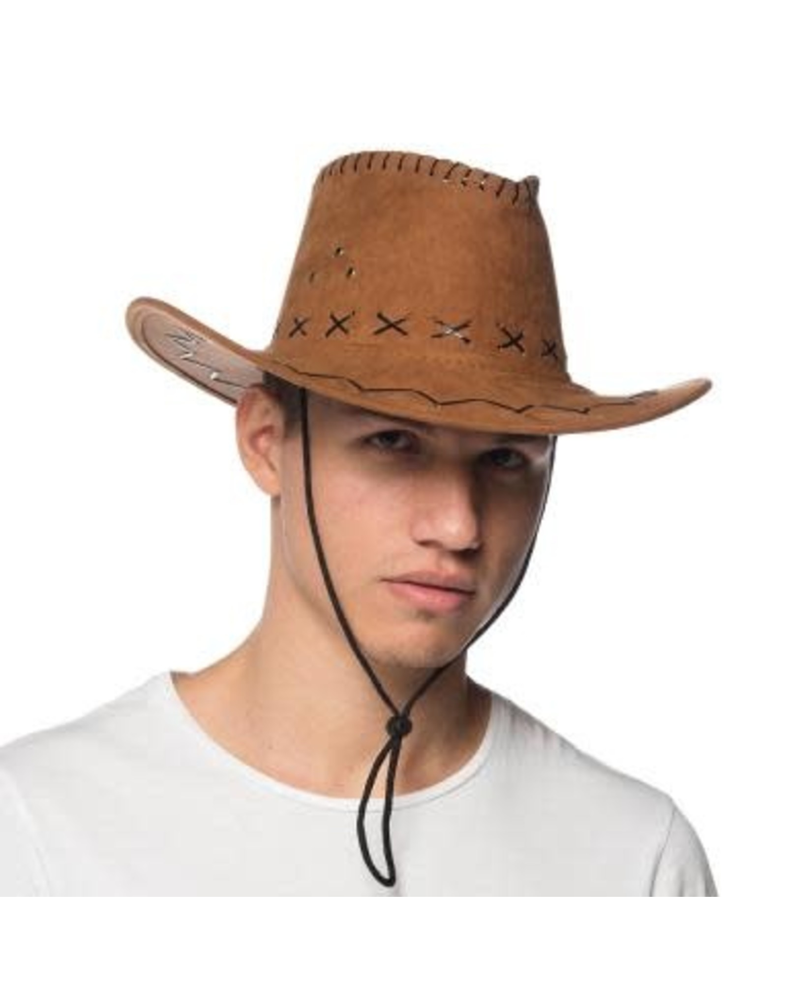 HM Smallwares Brown Suede Cowboy Hat