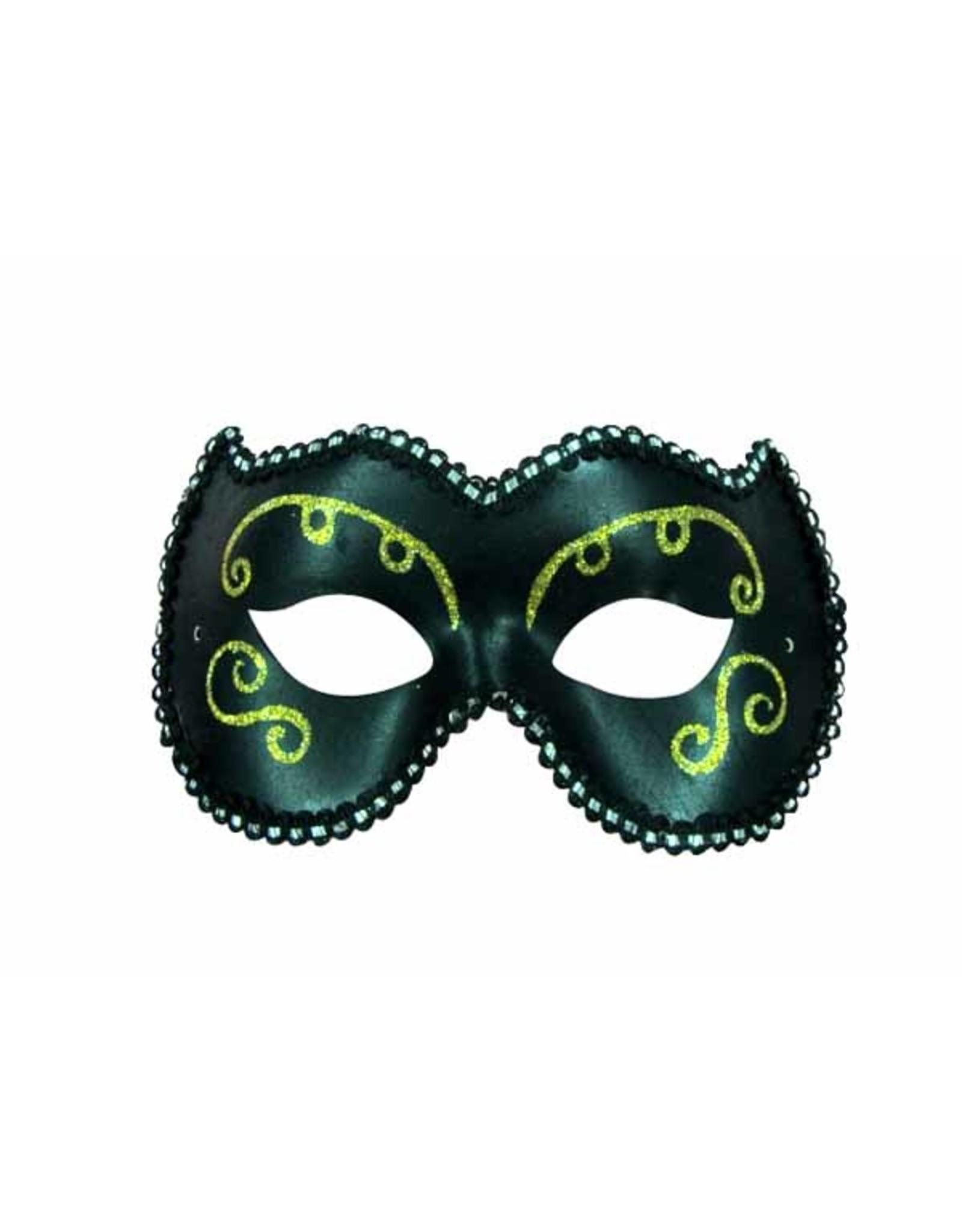 SKS Novelty Black and Gold Face Mask
