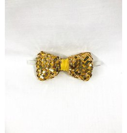 Rubies Costume Gold Deluxe Sequin Bow Tie