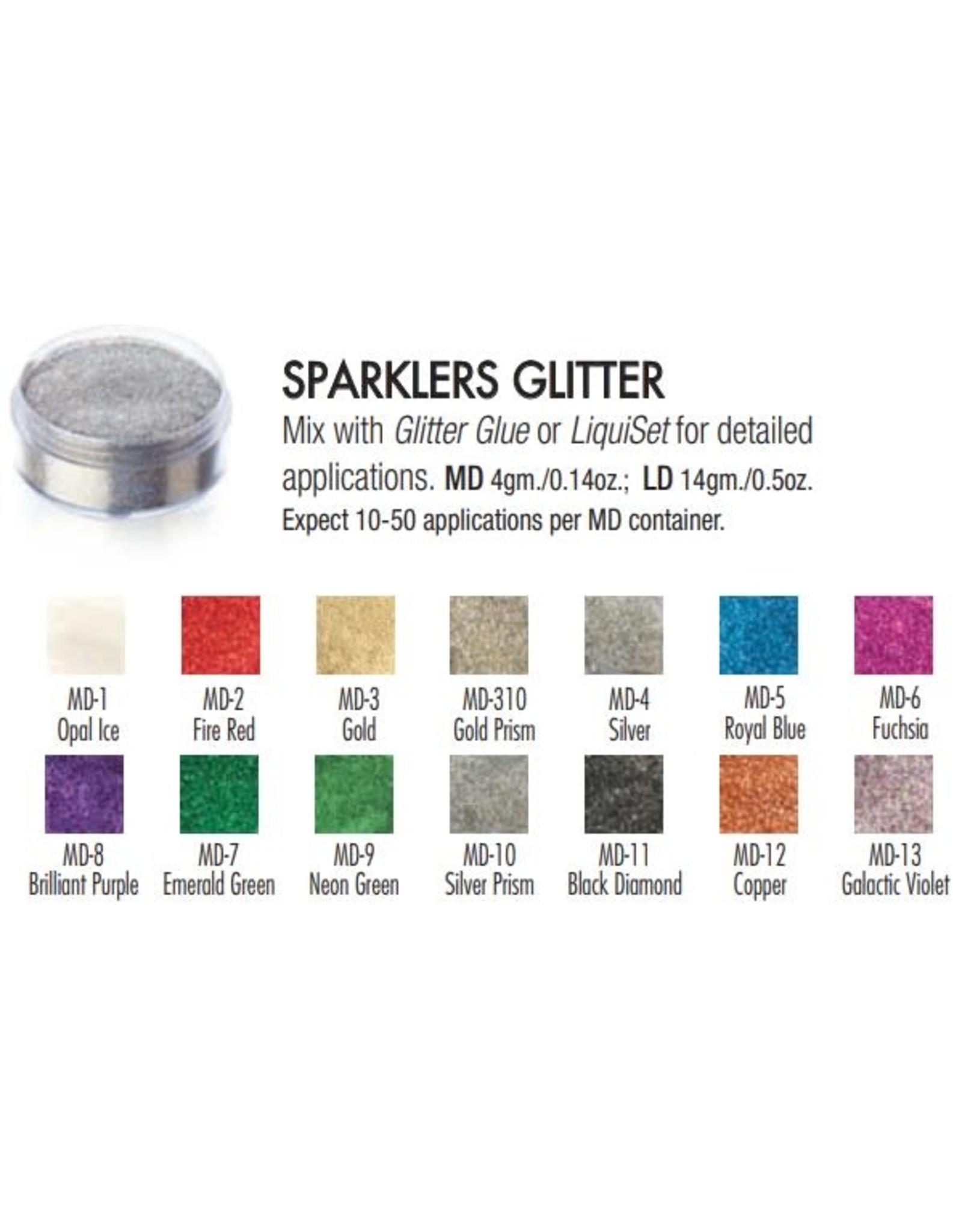 Ben Nye Ben Nye Sparklers Loose Glitter - Large Silver Prism