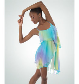 Body Wrappers Chiffon Layered Dance Dress