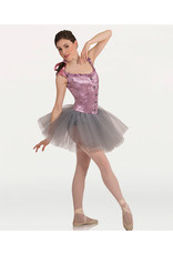 Body Wrappers Tutu w/Off Shoulder Metallic Panné Velvet Corset