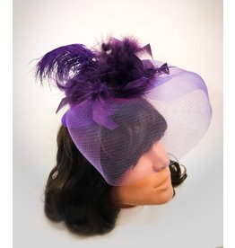 Karries Kostumes Purple Fascinator Mini Top Hat