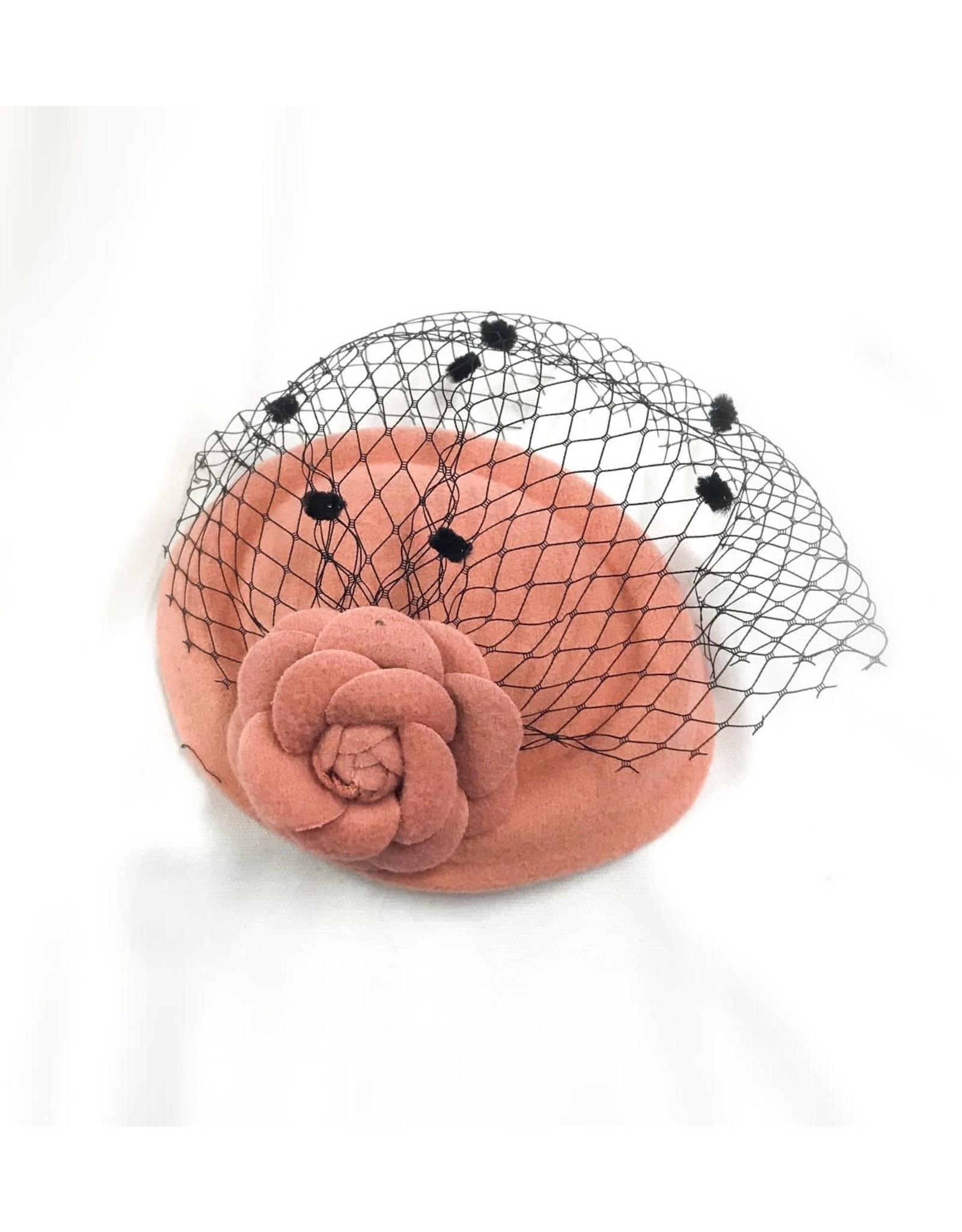 Karries Kostumes Rose Veiled Fascinator