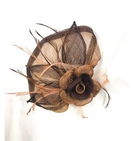 Karries Kostumes Brown Fascinator