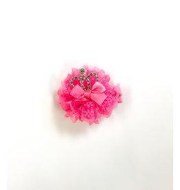 fH2 Pink Crown Hair Clip