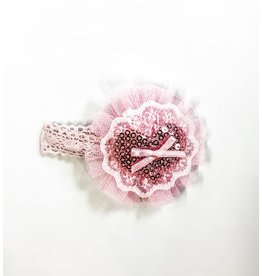fH2 Pink Heart Hair Bow