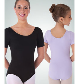 Body Wrappers Children's Black Short Sleeve Leotard