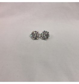 fH2 Crystal Cluster Stud Earrings
