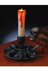 Fun World Skull Candle Holder with Candle