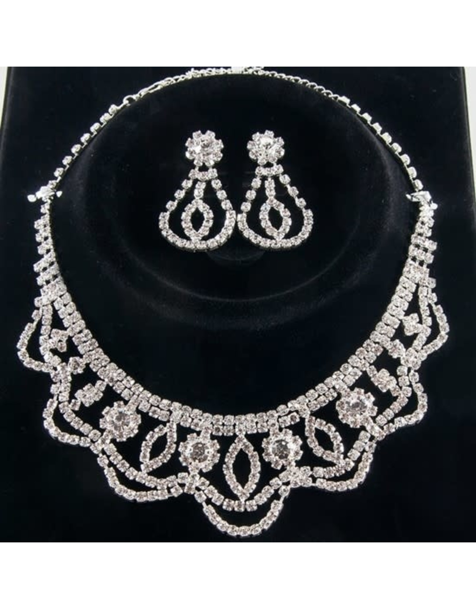fH2 Rhinestone Jewelry Set